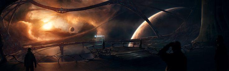 Estrelas, espaço, planeta, nebulosa, a luz Vetor - ForWallpaper.com