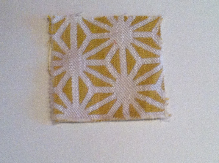 Fabric sample  Thibaut Name - Starburst  Colour- Citrus Number - W72774 Collection - Jubilee Prints & Wovens