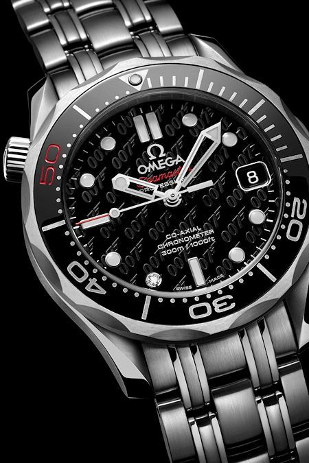 To celebrate fifty years of James Bond films, @omegawatches is releasing a special update of the popular Seamaster Diver 300m James Bond watch which has been worn by 007 in every adventure since GoldenEye. http://watchmamu.com/