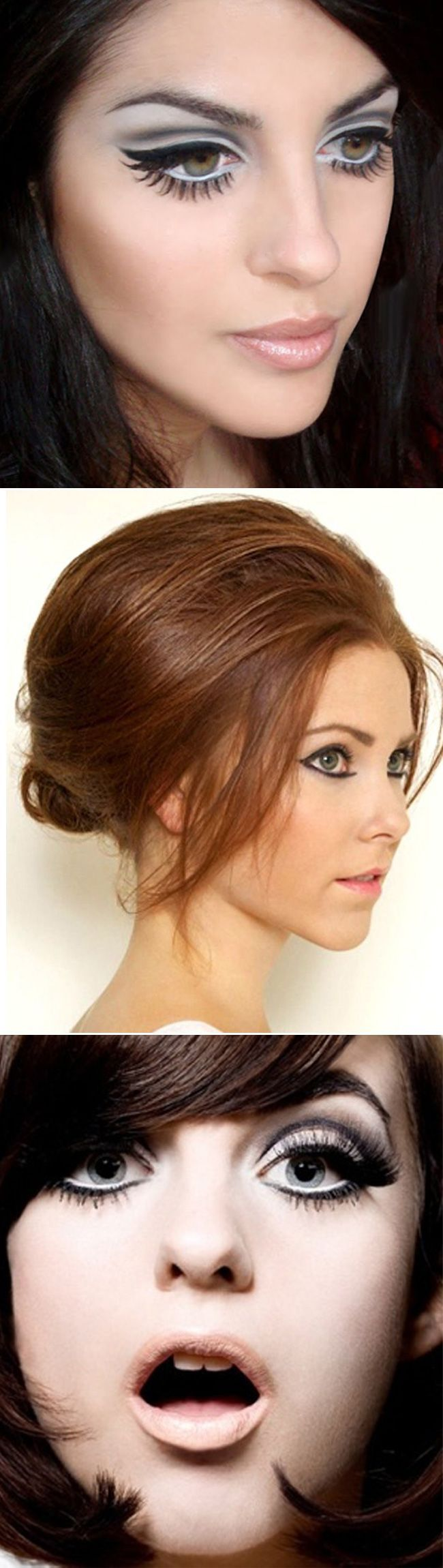1960s Vintage Make Up - it's all about the eyes. Take a look at Glitzy Secrets' GS Inspiration for more vintage make up looks