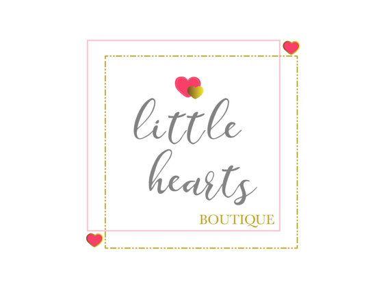 Premade Boutique Logo Children's Boutique LogoHearts