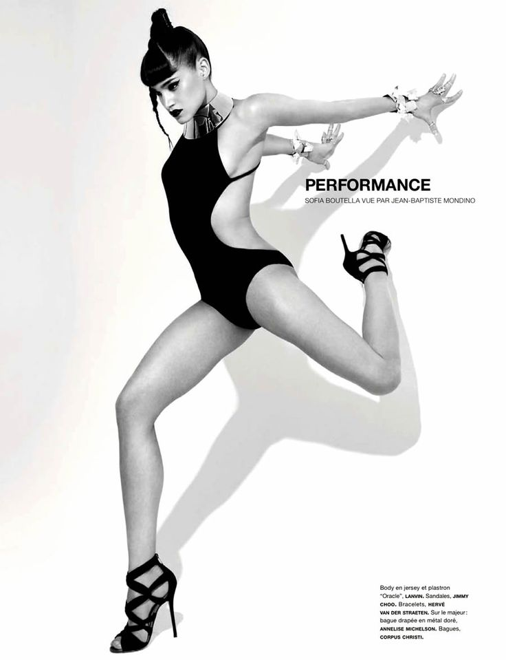 Sofia Boutella by Jean-Baptiste Mondino for Numero February 2013. Love the dynamic pose that seems like she's going to move any moment!