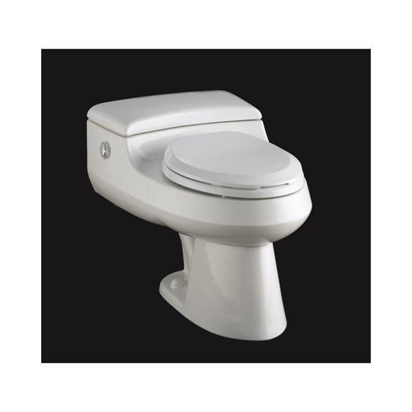 San Raphael(TM) Comfort Height(TM) elongated one-piece toilet with Twin Touch(TM) actuator and seat from Kohler®