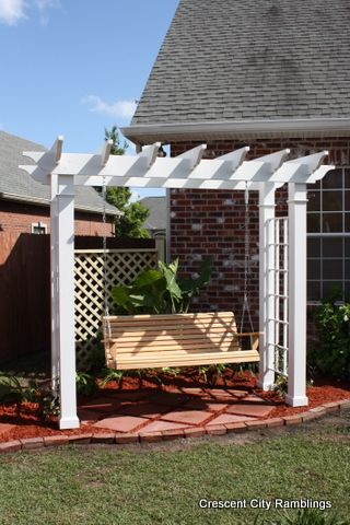 Arbor+Swing+Building+Design+Plans | Crescent City Ramblings: Garden Pergola Swing...the perfect gift!