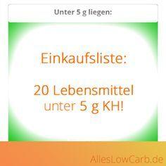 Diese Lebensmittel haben weniger als 5 g Kohlenhydrate auf 100 g!   AllesLowCarb.de