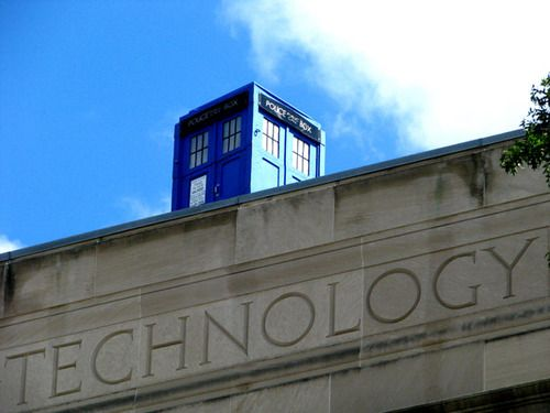 """""""The Massachusetts Institute of Technology is known for its elaborate pranks, but this is an especially good'un: Students awoke one morning to discover Doctor Who's spacetime-traveling police box resting atop the university's main entrance."""": Student, Boxes, Elaborate Pranks, Doctor Who, Doctors, Dr. Who, Morning, Discover Doctor"""