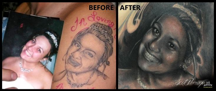 This poor man finally got his tattoo fixed! And the story behind it is so sad.