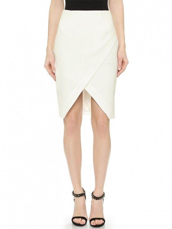 Symphonies Skirt // White envelope skirt