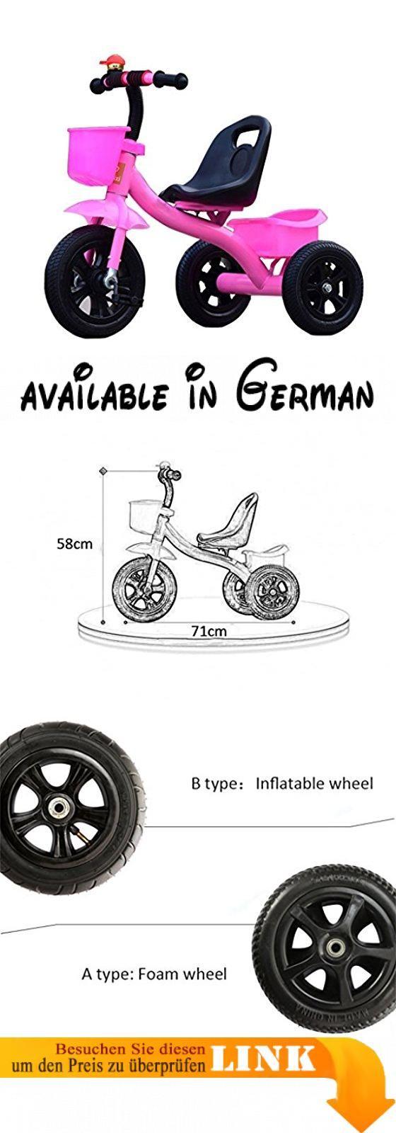 Dreirad-Baby-Wagen-Fahrrad-Kind-Spielzeug-Auto Aufblasbares Rad / Schaum Rad-Fahrrad Verwendbar für 1-2-3-4 Jährige (Junge / Mädchen), Rosa ( Farbe : B type ). Material: Stahl + TPR Kunststoff. Geeignetes Alter: 8 Monate -5 Jahre alt. Rad Typ: Eine Art ist Schaumrad, brauchen nicht aufblasbar; B-Typ ist aufblasbares Rad, Stoßfestigkeit / Verschleißfestigkeit #Sports #SPORTING_GOODS