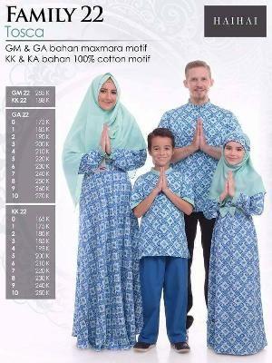 Baju Sarimbit HAI-HAI FAMILY 22 TOSKA