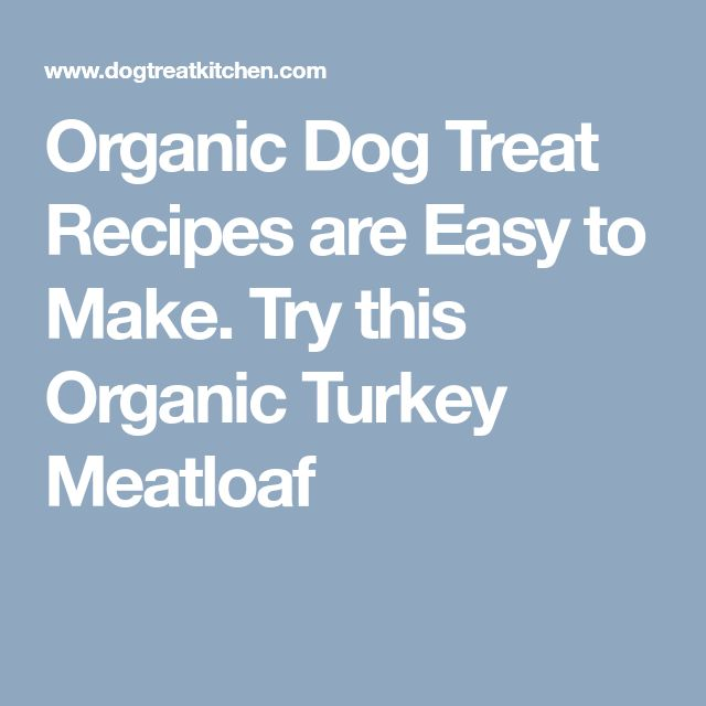 Organic Dog Treat Recipes are Easy to Make. Try this Organic Turkey Meatloaf
