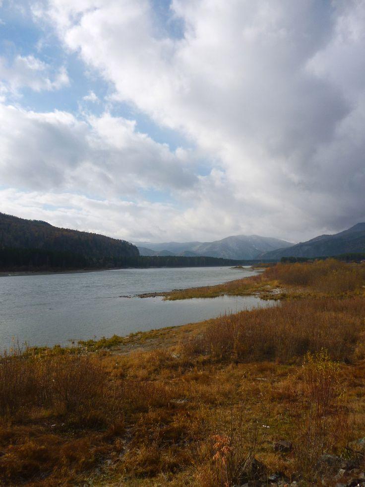 Abakan River. Abaza, Khakassia, October, 12, 2013