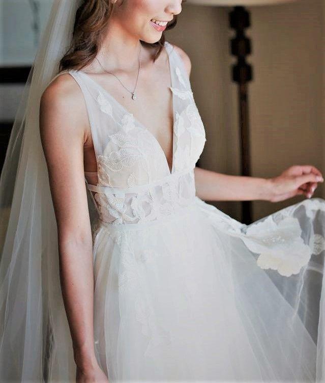 Bhldn Hearst Watters Galatea Wedding Dress Used Size 0 848