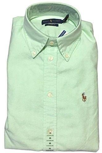 Polo Ralph Lauren Womens Custom Fit Oxford Button Down Shirt, Oasis Green, L