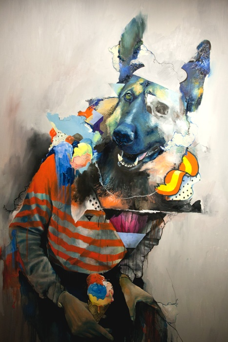 "From ""Oils"", Joram Roukes exhibition at Signal Gallery, London"