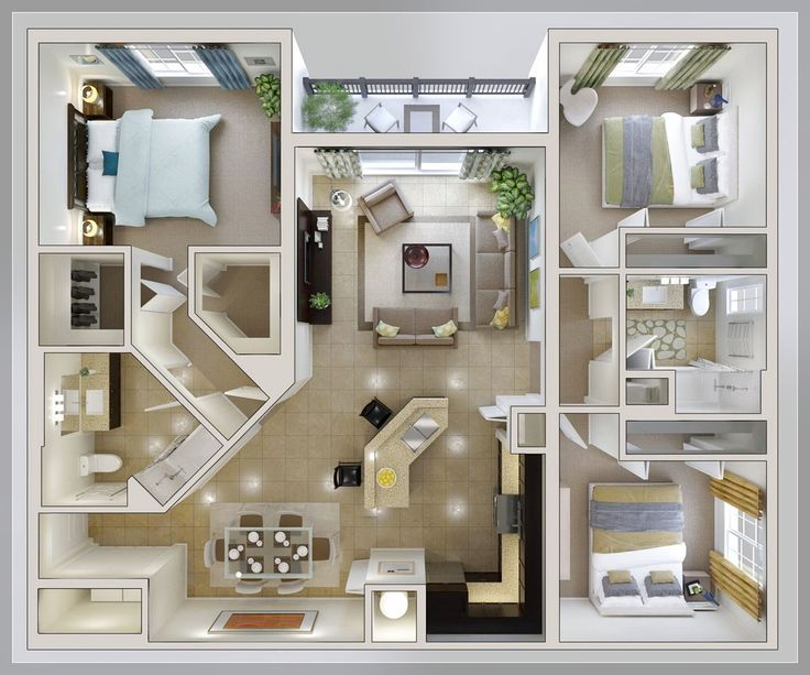Bedroom Layout Ideas Small 3 Bedroom House Plan Home Properti