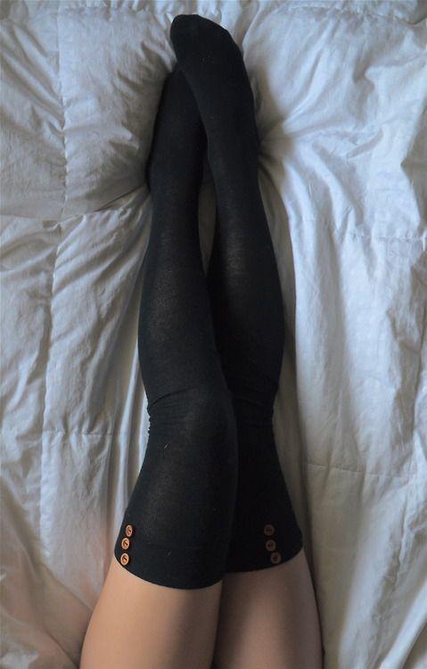 Button thigh highs                                                       …