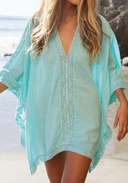Pretty mint beach coverup