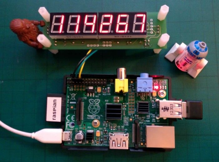Build a Raspberry Pi powered LED web counter
