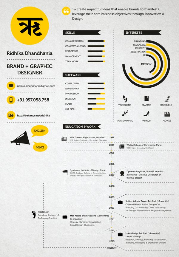 194 best Cool Résumés images on Pinterest Design resume, Resume - infographic resume builder