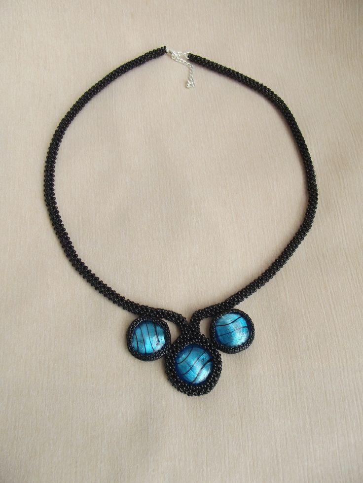 Kék köves nyaklánc