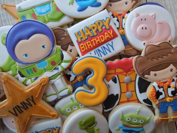 Toy Story Cookies Buzz Cookies Woody Cookies by FlourishCookies