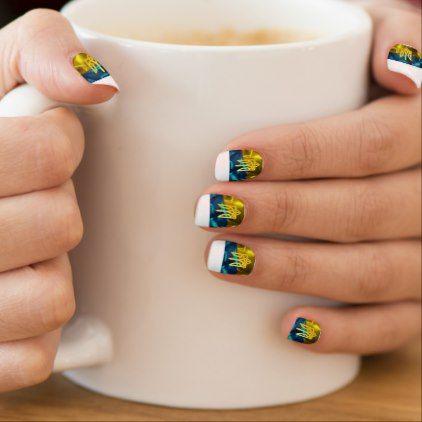 Ukraine Blue Yellow Flag Nail Wraps - diy cyo personalize design idea new special custom