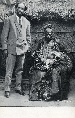 The Alaafin of Oyo, king of the Oyo Yoruba, Nigeria, circa 1900.