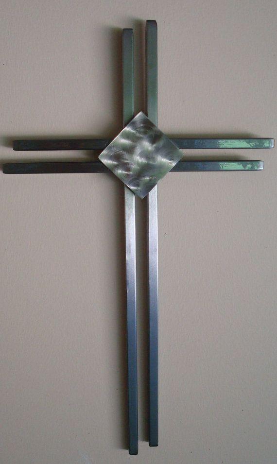 Hand Crafted Modern Metal Wall Cross