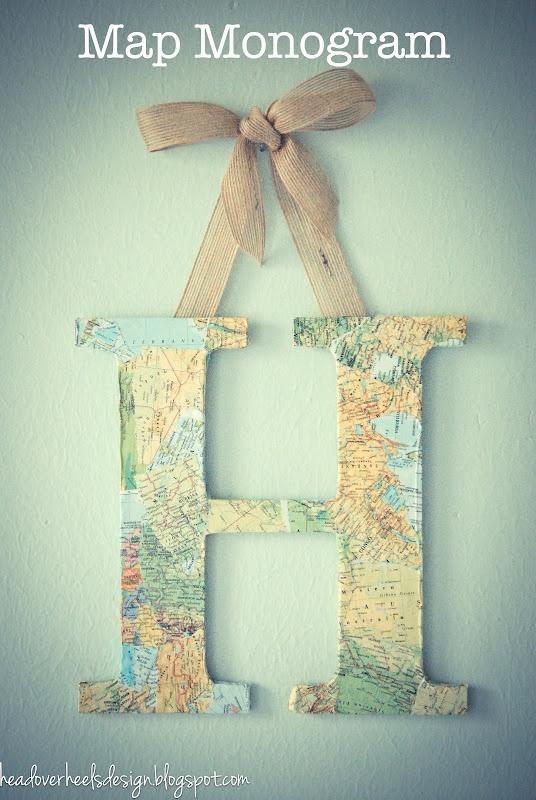 Head Over Heels: Hanging World Map Monogram