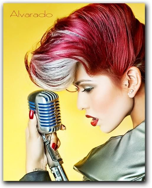 vintage inspared hair with a modern twist from retro-do's