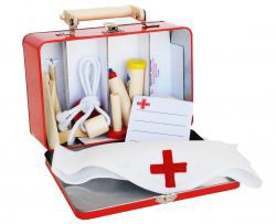 doctor play set in tin case - doctors tin suitcase with accessories, ... - Green with Envy