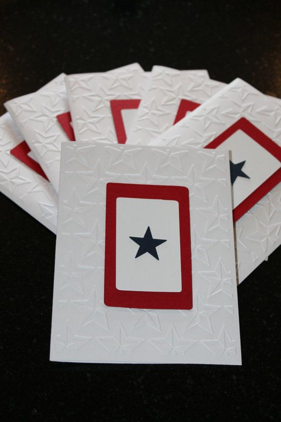 Military Blue Star Banner Note Cards by LadyBeeDesigns on Etsy, $8.95