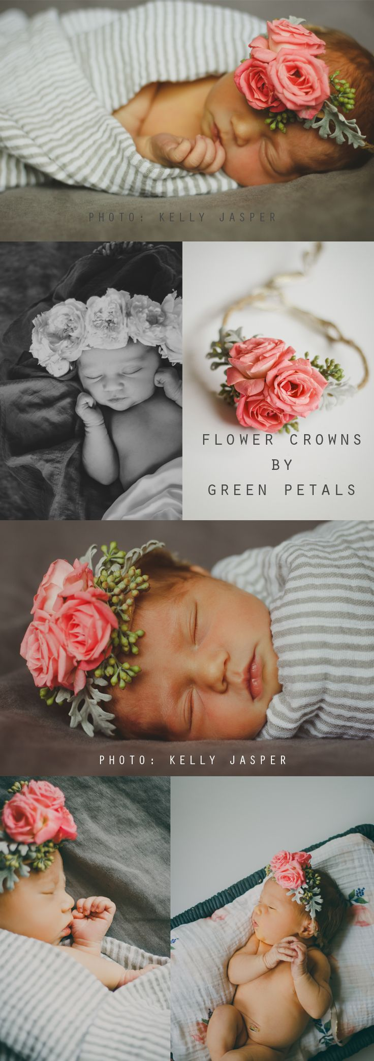 Floral Crowns..newborn baby girl photography diy inspiration ideas #newborn #photography