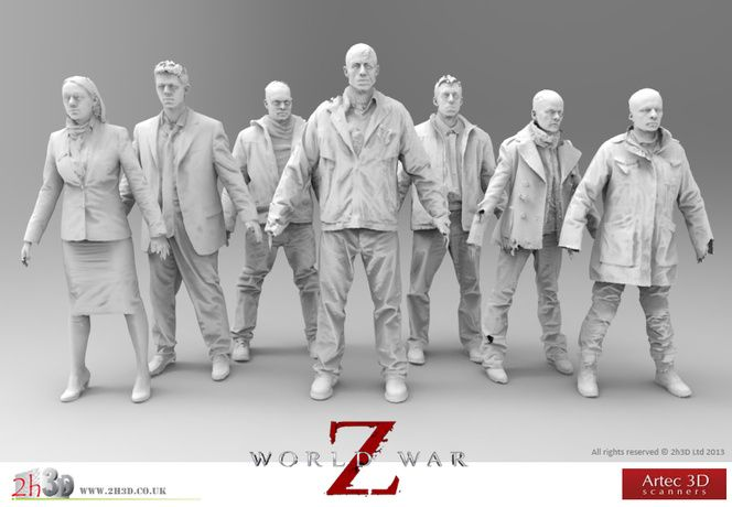 """Artec scanners were engaged in the making of """"World War Z"""" — Artec 3D Scanners. Interested in learning more? Objex Unlimited is an Authorized Distributor of Artec 3D Scanners. Get in touch for more info. http://objexunlimited.com/objex/objexunlimited/contact/"""