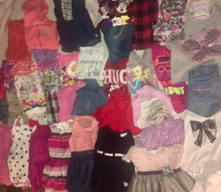 Girls 4 & 4t Summer Spring Clothing 40pc Lot Shirts Shorts Dresses Gap Children  | eBay