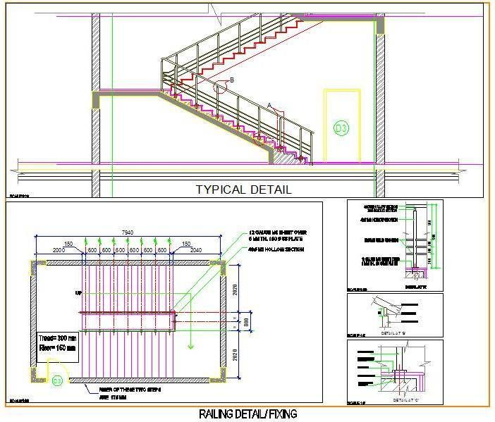 Staircase And Railing Design Plan N Railing Design Stair Railing Design Staircase Design