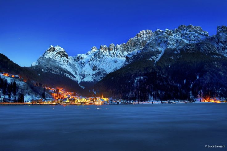 Alleghe - Blue hour by luca lanzani on 500px