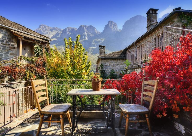 TRAVEL'IN GREECE |  Balcony in Papigo, #Epirus, #Greece, #travelingreece