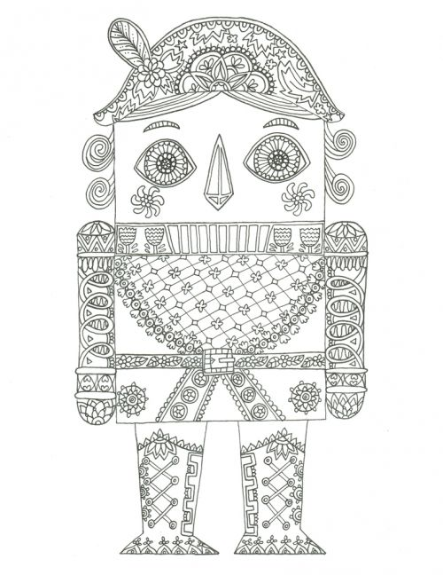 Advanced Christmas Coloring Pages Print : Best advanced christmas coloring images on pinterest