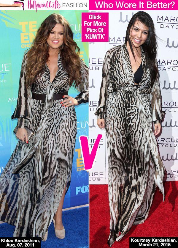 Kourtney Kardashian Borrows Khloe's Leopard Dress: Who Wore It Better.but