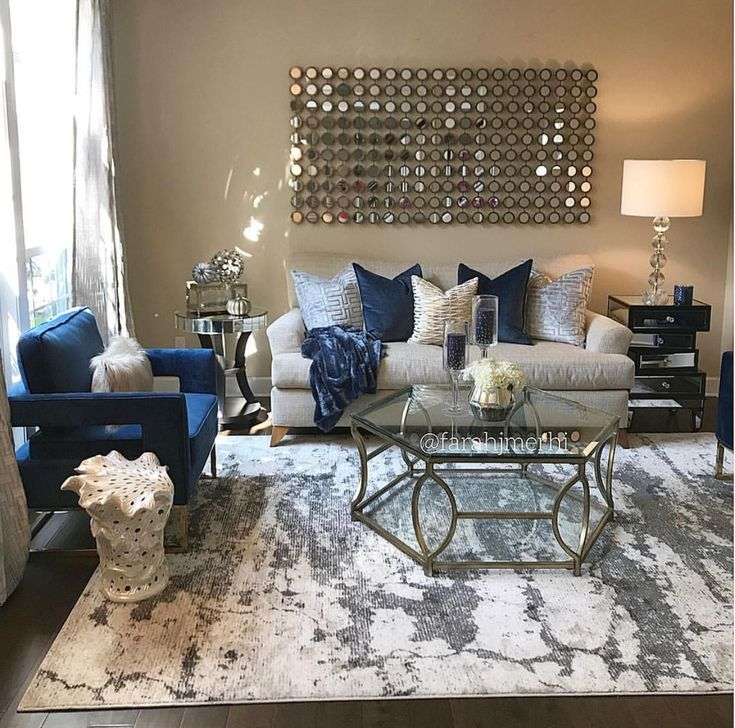 Grey Blue And Silver Living Room Ideas in 2020 | Blue ...