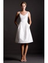 Shantung V-Neck Neckline Empire Wedding Dress