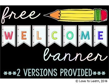 Welcome back your students in style this school year with this free welcome pennant banner.