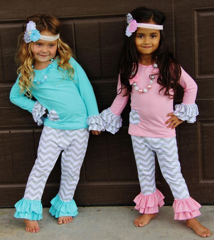 Chevron Long Sleeve Boutique Outfits Little Girl Outfits Boutique Clothing Girl Outfits
