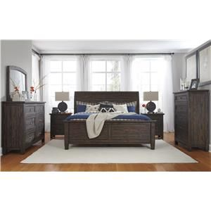 Signature Design by Ashley Trudell Queen Soild Pinewood Sleigh Bed