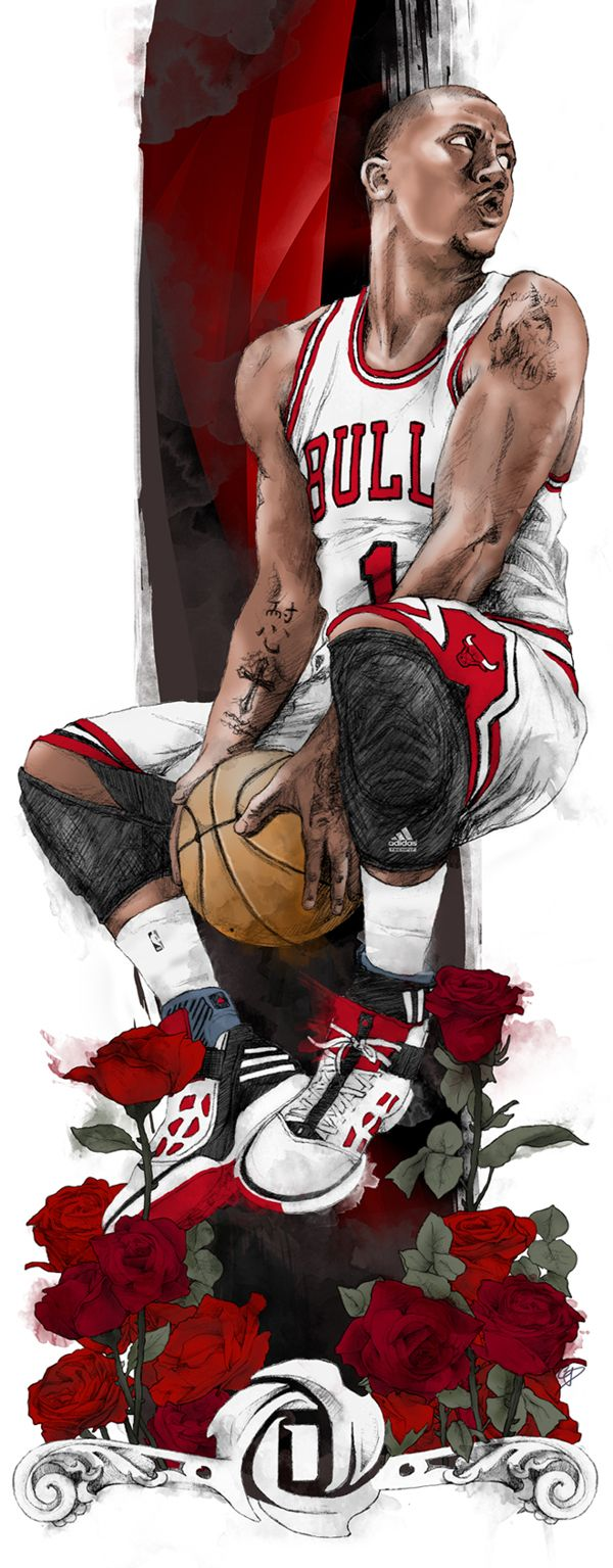 Derrick Rose by Chris DiBenedetto, via Behance