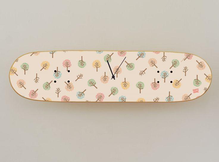 Skateboard Bedroom Furniture 11 best boneless wall clock - original skateboard deck clock for