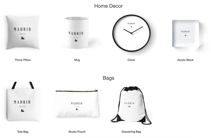 Madrid!- Home Decor, Bags, T-shirts and more. Available on Redbubble now.