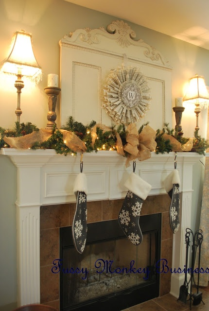 Fussy Monkey Business: Christmas Mantle